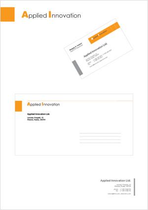 Корпоративный стиль для компании Applied Innovation.